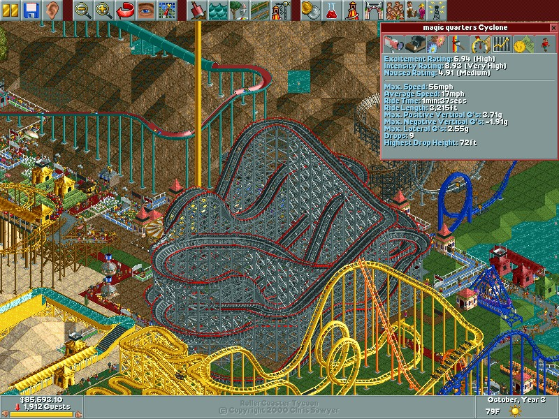 Roller Coaster Tycoon 1, Loopy Landscapes, Corkscrew Follies